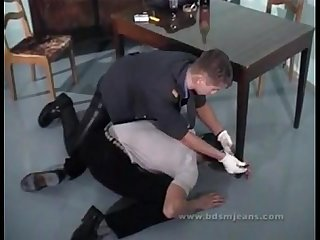 Police station leather gay