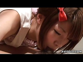 Beautiful Asian chick Usagi Amakusa nailed hard