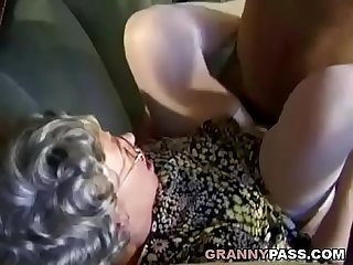 German granny can t wait to fuck young delivery guy