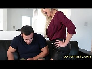 Naughty milf seduces stepson