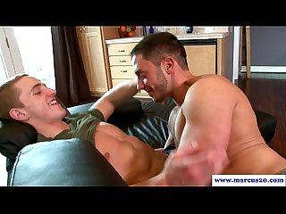 Straight guy seducing lucky stud