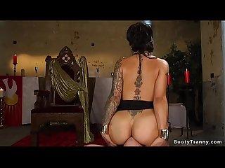 Tranny goddess anal fucking male