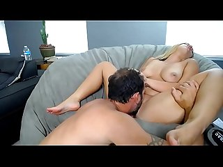 Hot blonde milf play with her husband