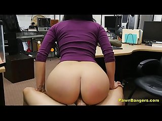 Gorgeous latina babe with perfect tits fucks for money