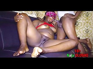 Obsessed Naija Olosho invited black cock man to cum and keep her company during curfew and she..