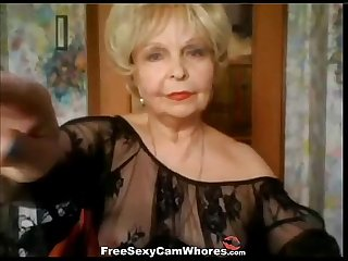 Age isn t stopping this nasty granny from rubbing her old pussy on webcam