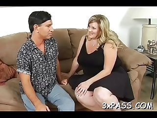 Playful fat angel seduces pretty guy to bang her very well