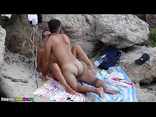 Amateur couple having quick sex on the beach amateurteensex in