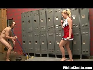 Cheerleader gets toes sucked and then fucked