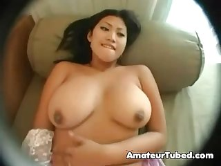 Indonesian girl chandra trying white dick