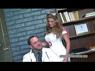 Buxom nurse Charisma Cappelli bangs the doctor