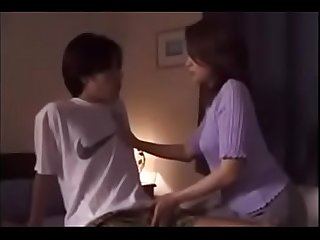 40yr old japanese mom gets cum from son