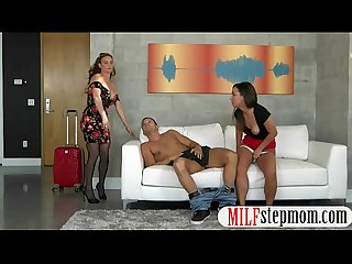Teen slut and big boobs MILF threesome with nasty man
