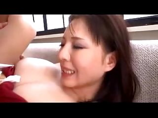 Busty mature lady in kimono rapped by 2 guys with gun getting her mouth pussy fucked creampie