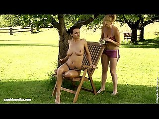 Garden glister by sapphic erotica sensual lesbian sex scene with roxy and ewe