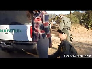 Couple of border officers fuck latina