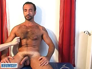 Handsome Mature arab sport guy gets wanked his big dick by us !