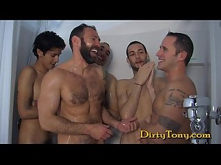 4 cumshots on one hot face