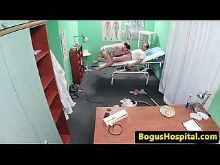 Real patient fucked by doctor in office