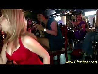 Blonde amateur sucks cfnm stripper at cfnm party