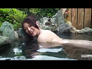 Subtitled uncensored pov Japanese bathhouse Blowjob