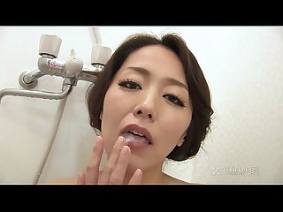 41ticket japanese mature masturbates and sucks cock in shower uncensored jav