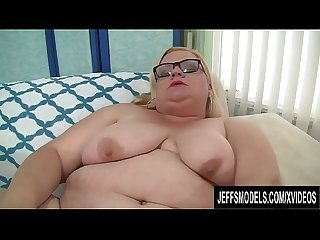 Blonde BBW Joanna Roxxx Orgasms After Teasing Her Pussy with Naughty Toys