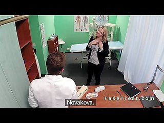 Natural blonde amateur banged in fake hospital