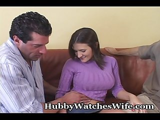 Sissy Hubby Watches Real Man