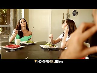 Step Daughter Ariana Marie Licks Mom's Pussy Under A Table