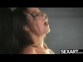 Seductive Latina beauty Lorena masturbates to an intense orgasm