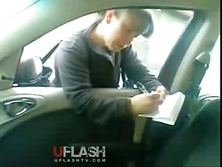 Dick flash in car survey girl