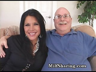 Old Hubby Offers Hot MILF