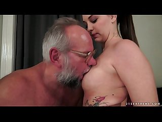 Angelina brill takes an old dick
