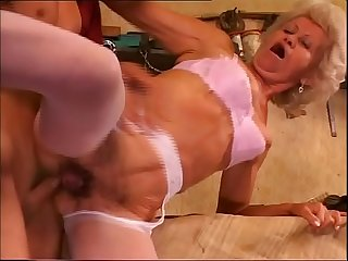 Sexy grandma seduces her grandson for a good ass fucking