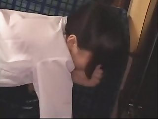Japanese cute schoolgirl get finger,blowjob and fuck on the bus