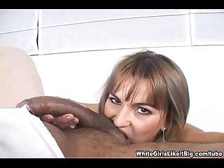 Rebecca smokes a black cock