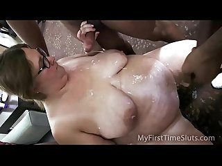 Bbw Wife s first blowbang