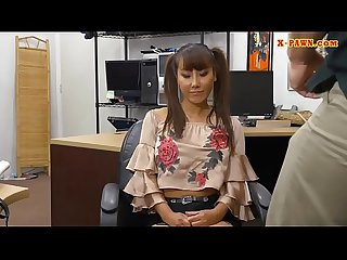 Big tits asian babe slammed by pawn dude