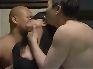 Japanese milf gets fucked by 2 men while her husband was watching in the next door pt2 on filfcam co
