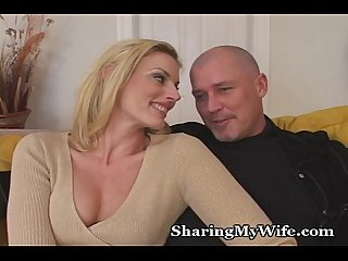 Curious couple wants new young stud to please her