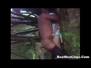 Indian girl getting fucked at outdoor