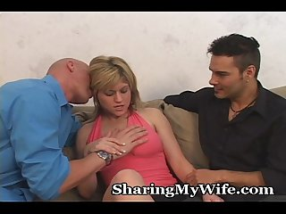Hubby loves sharing his wife