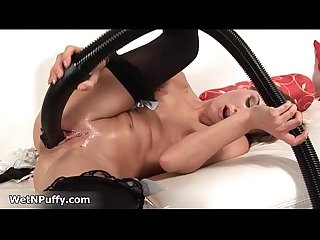 Hot blonde babe goes crazy fucking her