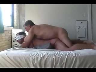 Daddy bear fucking his boy