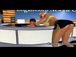 3d cartoon lesbian babes getting it on