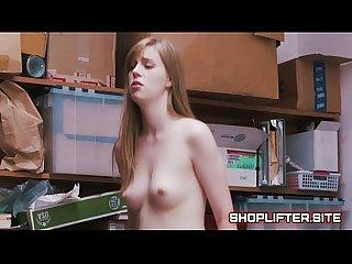 Dolly leigh blackmailed and fucked by store detective