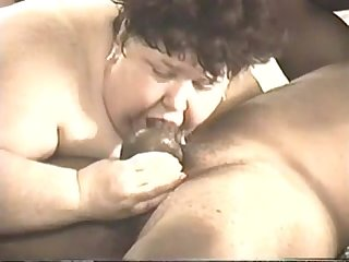 Ugly Mature SSBBW Eats a BBC