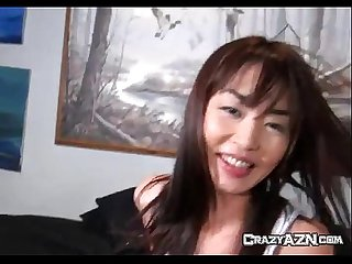Cute chinese babe gets her pussy eaten out by her boyfriend
