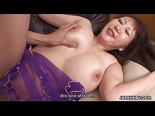 Hot japanese milf with big tits rides a hard cock